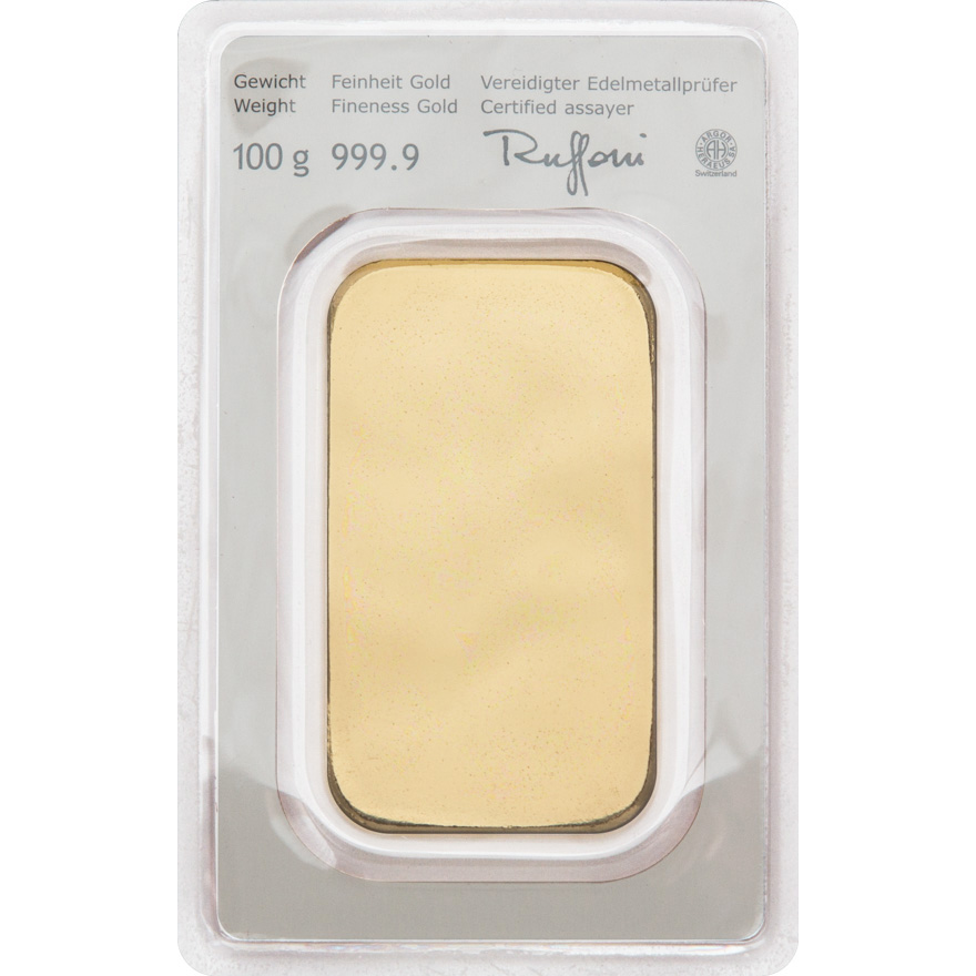 Goldbarren 100g Münze östereich