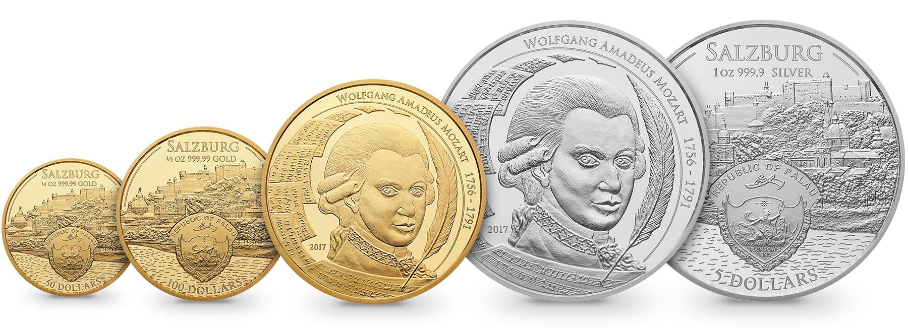 Mozartmünze Gold Und Silber