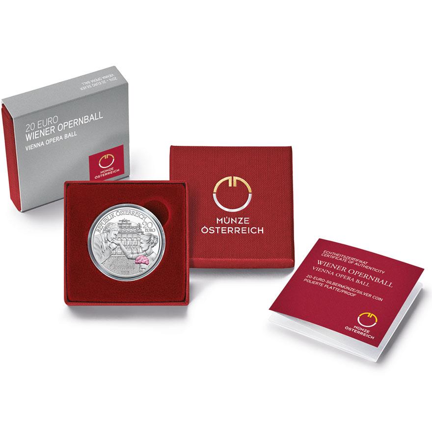 20 Euro Silbermünze Wiener Opernball Pp