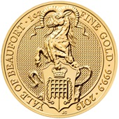 Gold The Yale of Beaufort 1 oz - The Queen's Beasts 2019