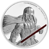 Silber Star Wars Darth Vader 2 oz Ultra High Relief 2017
