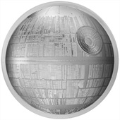 Silber Star Wars Todesstern 2 oz Ultra High Relief