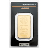 Goldbarren 1oz Argor Heraeus