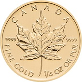 Gold Maple Leaf 1/4