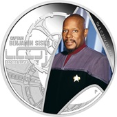 Star Trek - Deep Space Nine - Captain Benjamin Sisko 2015 1oz Silbermünze PP