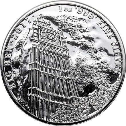 "Silber Landmarks of Britain ""Big Ben"" 1 Unze 2017 - differenzbesteuert"