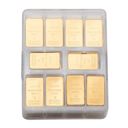 Goldbarren UnityBox large 250 x 1 g - philoro