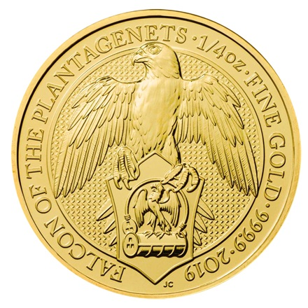 Gold The Falcon of the Plantagenets 1/4 oz - The Queen´s Beasts 2019