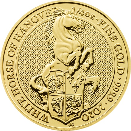Gold The White Horse of Hanover 1/4 Unze - The Queen's Beasts 2020