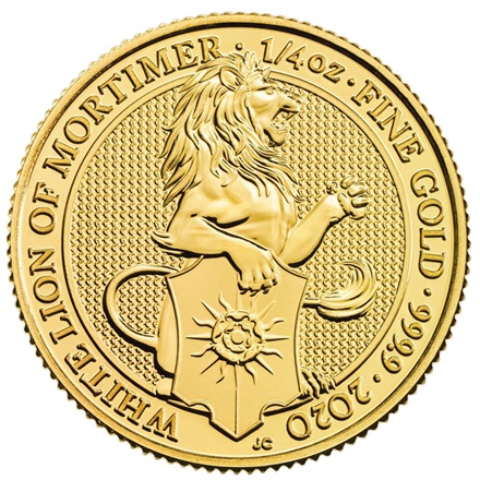 Gold The White Lion of Mortimer 1/4 oz - The Queen's Beasts 2020