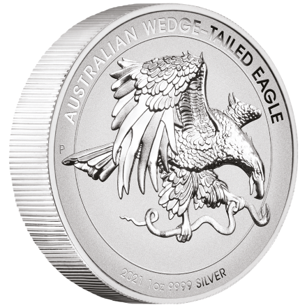 Silber Wedge Tailed Eagle 2021 - 1 oz PP High Relief