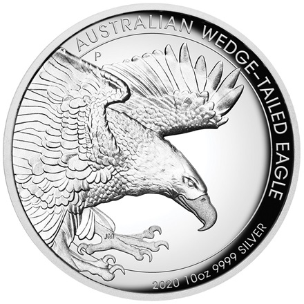 Silber Wedge Tailed Eagle 2020 - 10 oz PP High Relief