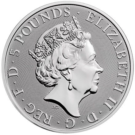 Silber The Yale of Beaufort 2 oz - The Queen's Beasts 2019 - differenzbesteuert