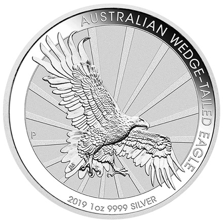 Silber Wedge Tailed Eagle 1 oz - 2019 - differenzbesteuert