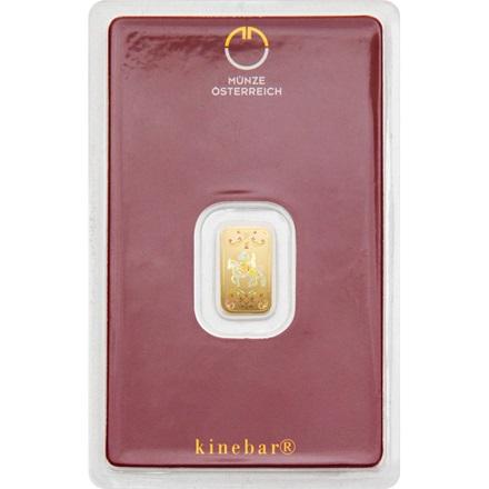 Goldbarren 1g Münze österreich