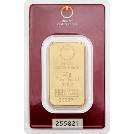 Goldbarren 20g Münze österreich