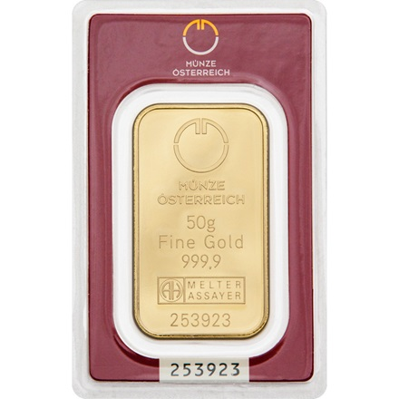Goldbarren 50g Münze österreich