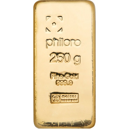 Goldbarren 250g gegossen - philoro
