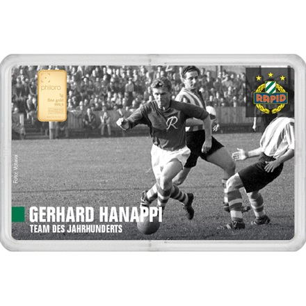 "Goldbarren 1g - RAPID Gold Card ""Gerhard Hanappi"""