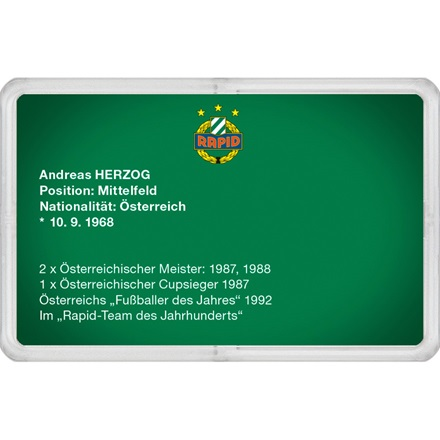 "Goldbarren 1g - RAPID Gold Card ""Andreas Herzog"""