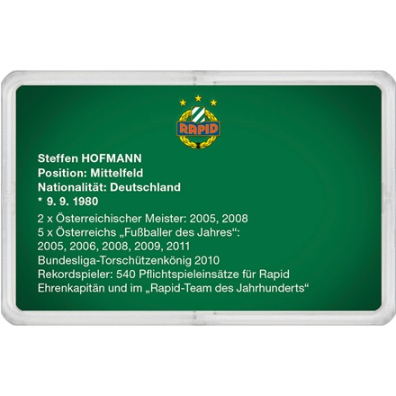 "Goldbarren 1g - RAPID Gold Card ""Steffen Hofmann"""