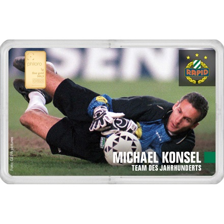 "Goldbarren 1g - RAPID Gold Card ""Michael Konsel"""