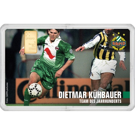 "Goldbarren 1g - RAPID Gold Card ""Dietmar Kühbauer"""