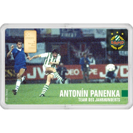 "Goldbarren 1g - RAPID Gold Card ""Antonin Panenka"""