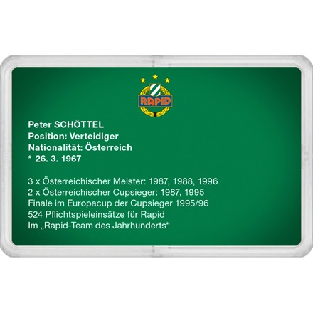 "Goldbarren 1g - RAPID Gold Card ""Peter Schöttel"""