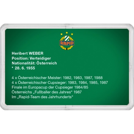 "Goldbarren 1g - RAPID Gold Card ""Heribert Weber"""
