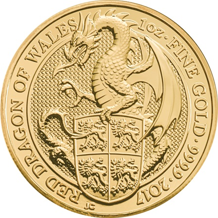 The Dragon 1 oz - The Queen´s Beasts 2017