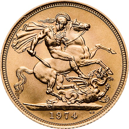 Gold Sovereign 1/2 Pfund
