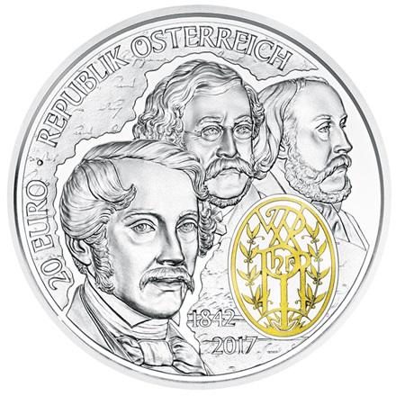 20 Euro Silbermünze 175 Jahre Wiener Philharmoniker Pp