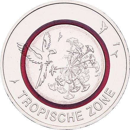 5 Euro Münze Deutschland 2017 Tropische Zone